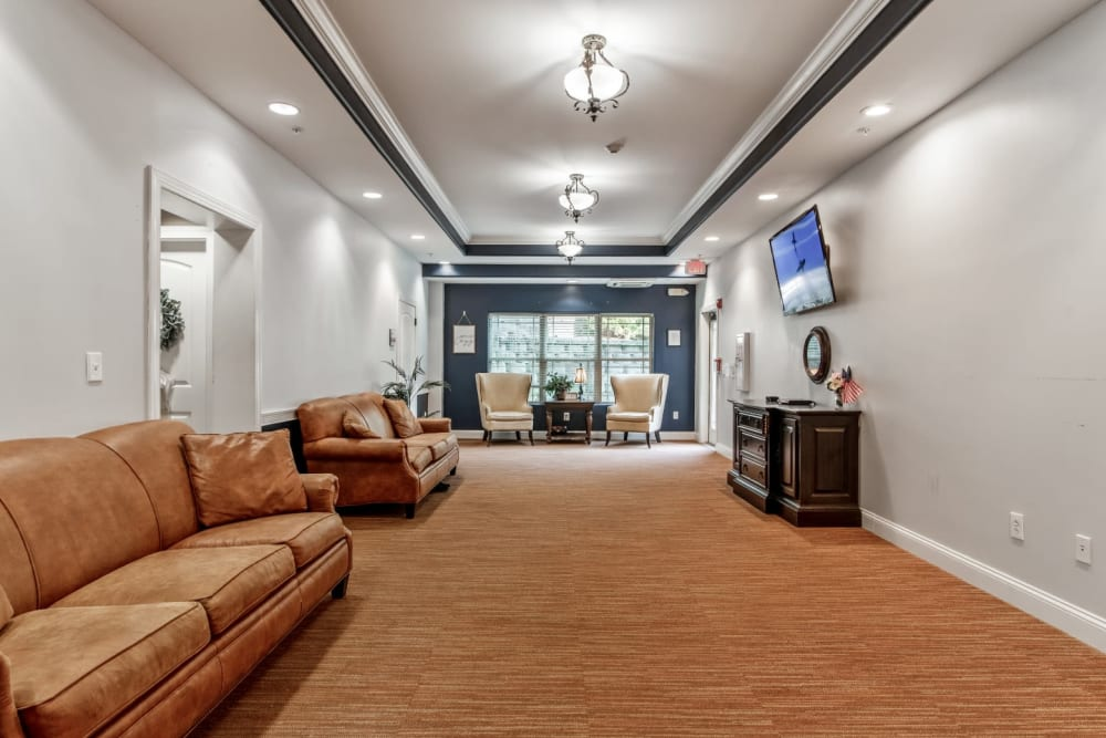 furnished hallway at Truewood by Merrill, Knoxville in Knoxville, Tennessee