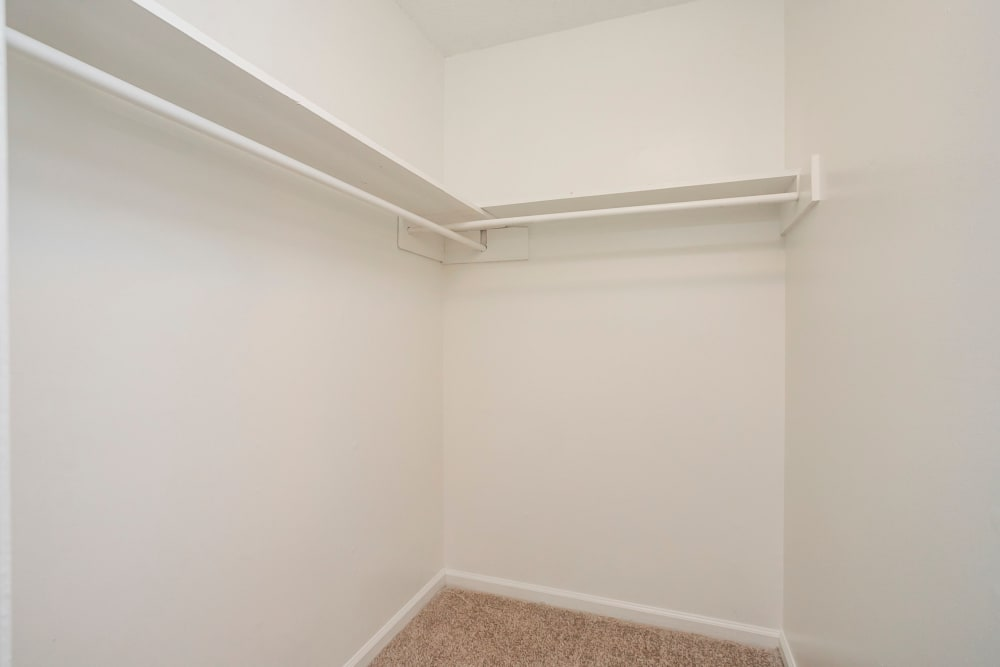 Large walk-in closet at Magnolia Place Apartments in Franklin, Tennessee