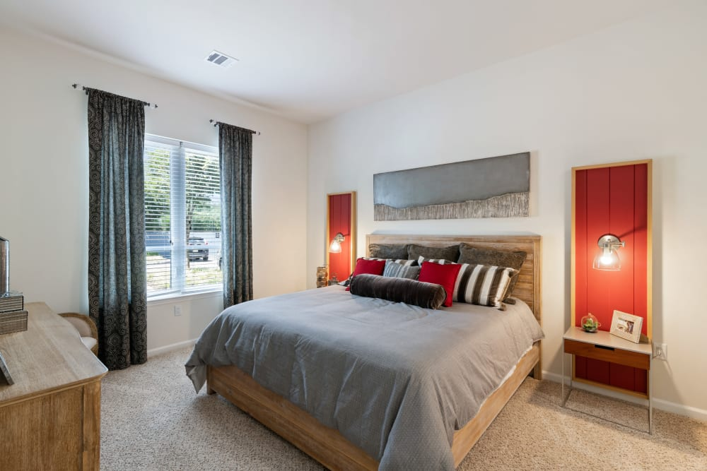 A master bedroom at The Mark Parsippany in Parsippany, New Jersey