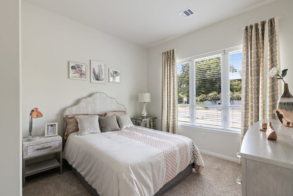 Naturally lit bedrooms at The Mark Parsippany in Parsippany, New Jersey