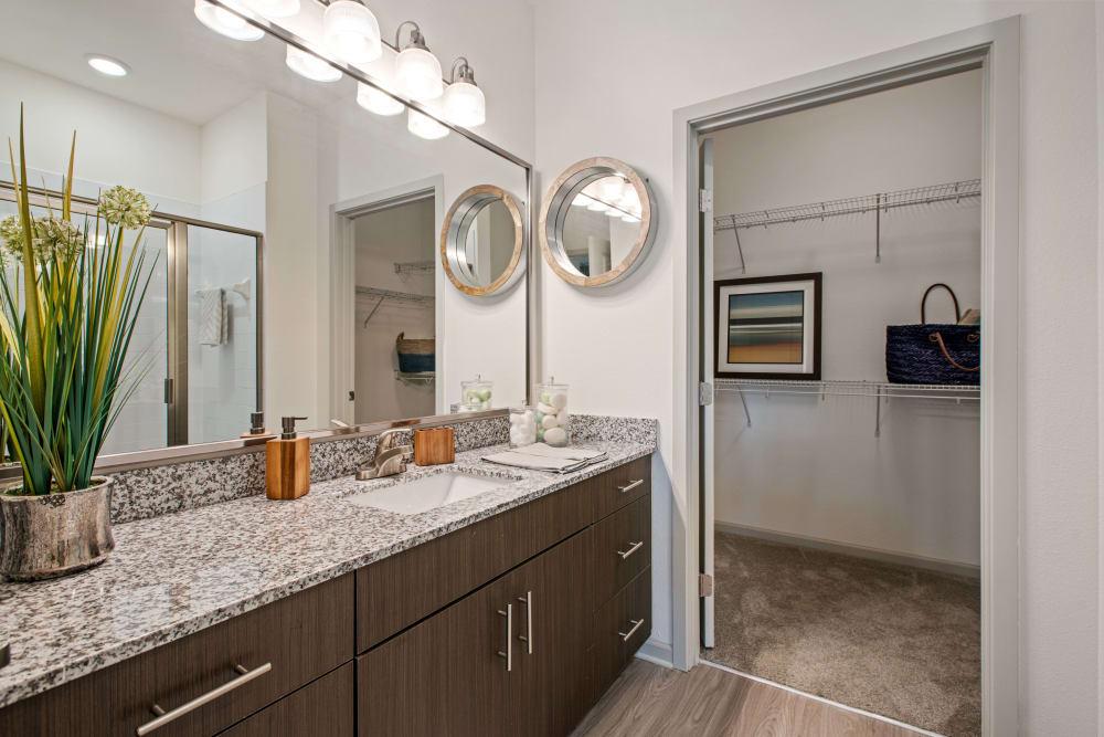 Clean bathroom countertops at Linden Crossroads in Orlando, Florida