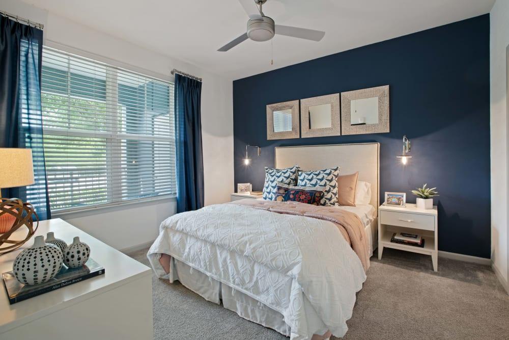 The master bedroom at Linden Crossroads in Orlando, Florida
