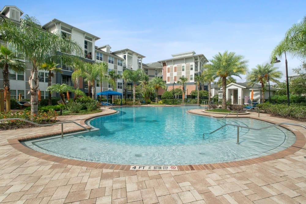 Sit poolside at Linden Crossroads in Orlando, Florida