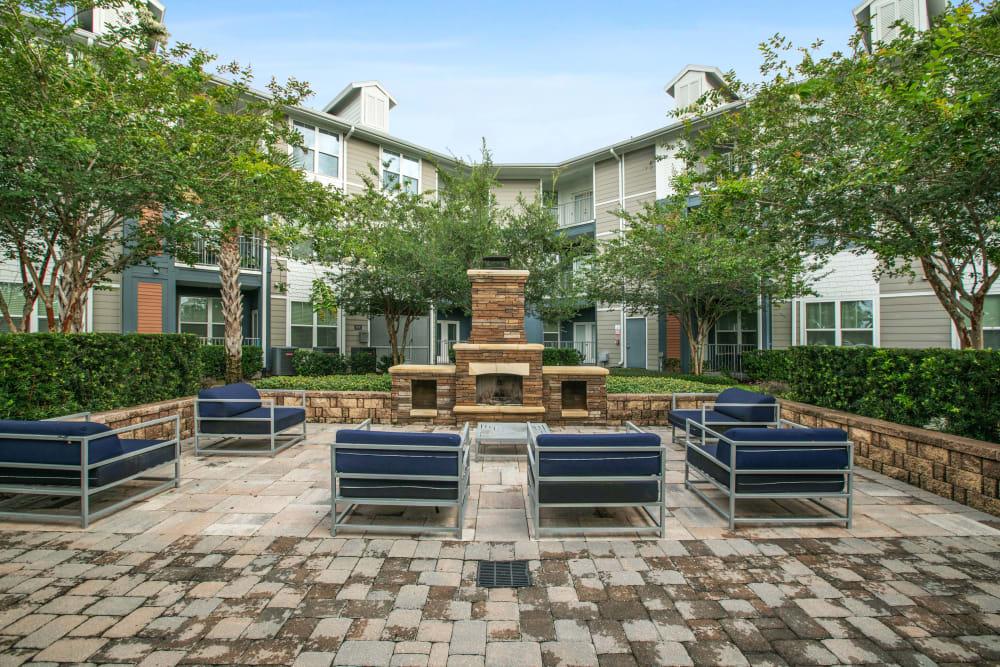 The outdoor area at Linden Crossroads in Orlando, Florida