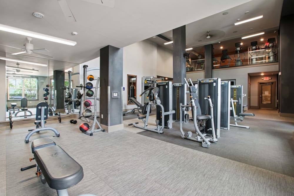 The gym at Linden Crossroads in Orlando, Florida