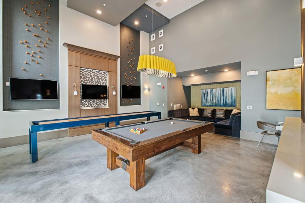 A billiards table at Linden Crossroads in Orlando, Florida