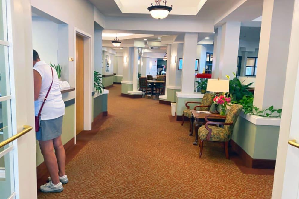 lobby at The Iris Senior Living in Great Falls, Montana