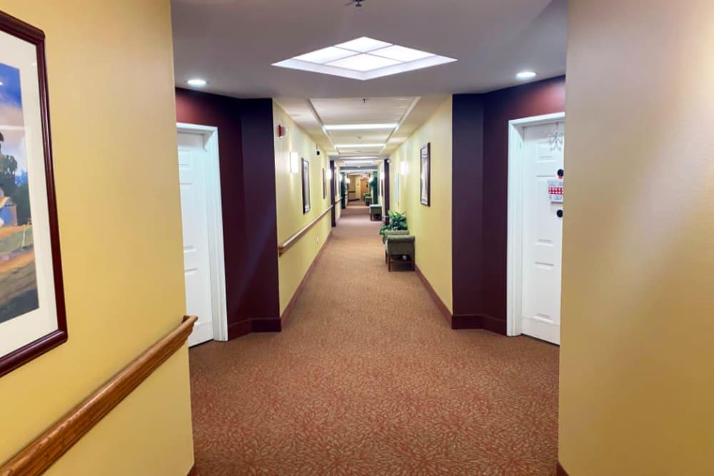 hallway at The Iris Senior Living in Great Falls, Montana