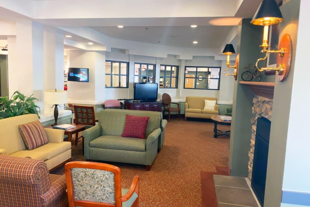 community lounge at The Iris Senior Living in Great Falls, Montana