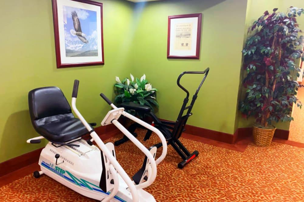 cardio machine at The Iris Senior Living in Great Falls, Montana