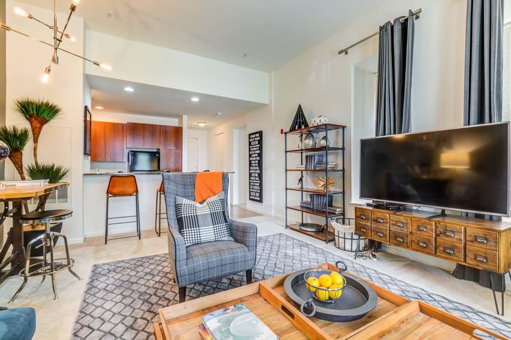 living room at Bradlee Danvers in Danvers, Massachusetts