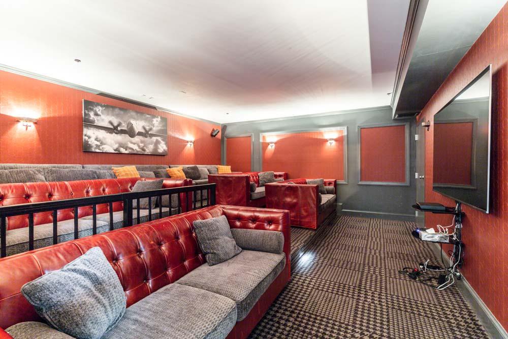 movie room at Bradlee Danvers in Danvers, Massachusetts