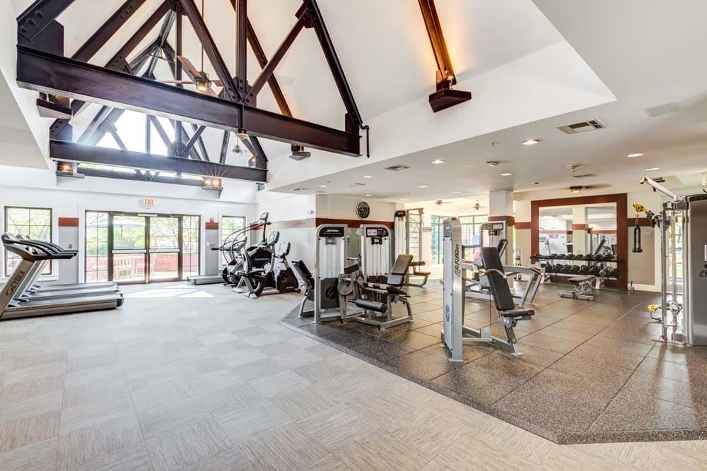 fitness center at Bradlee Danvers in Danvers, Massachusetts