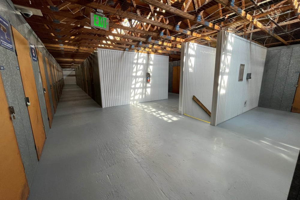 Upstairs units at Storage Solutions in Capistrano Beach, California