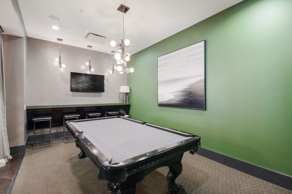 Pool table for residents at Skyline New Rochelle in New Rochelle, New York