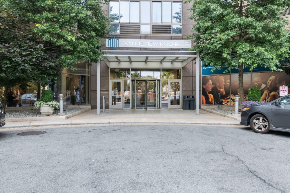 View of front entrance at Skyline New Rochelle in New Rochelle, New York