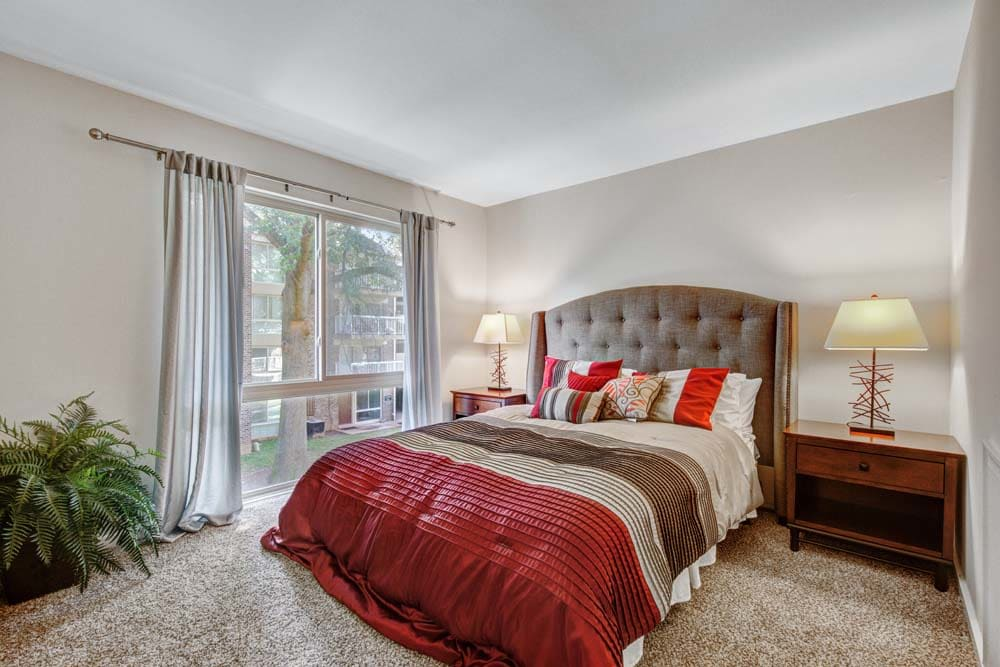 A master bedroom at Westchester West Silver Spring, MD