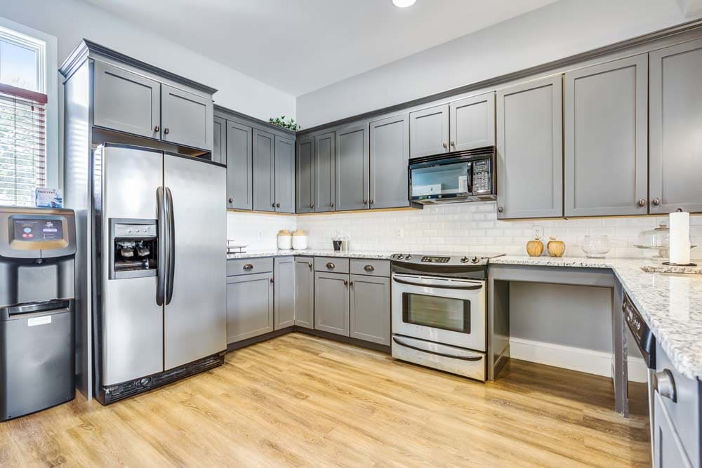 A bright, spacious kitchen at Howard Crossing in Ellicott City, Maryland