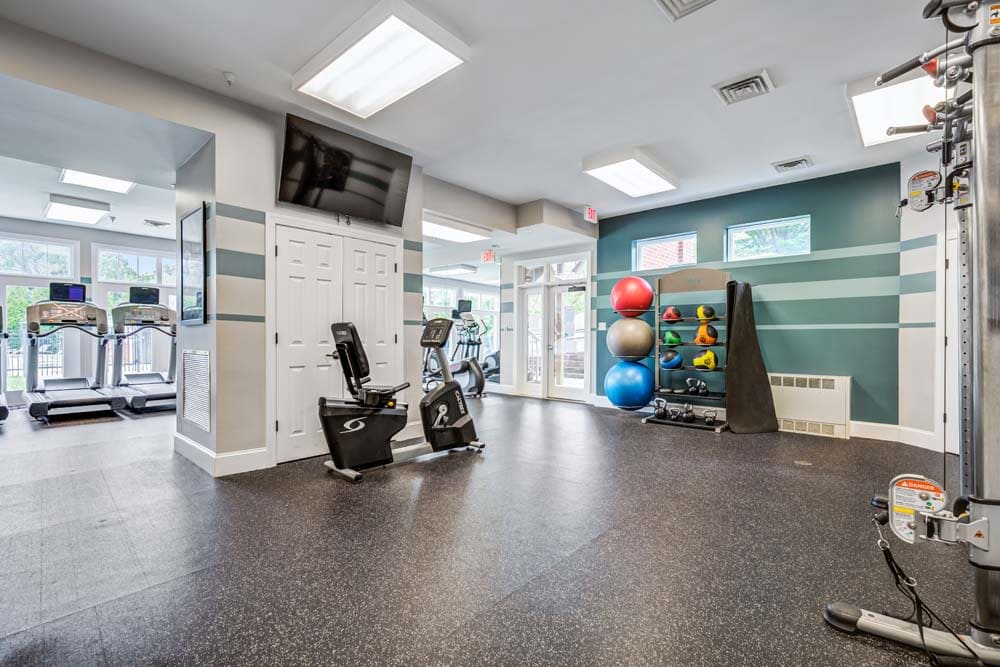 The gym at Howard Crossing in Ellicott City, Maryland