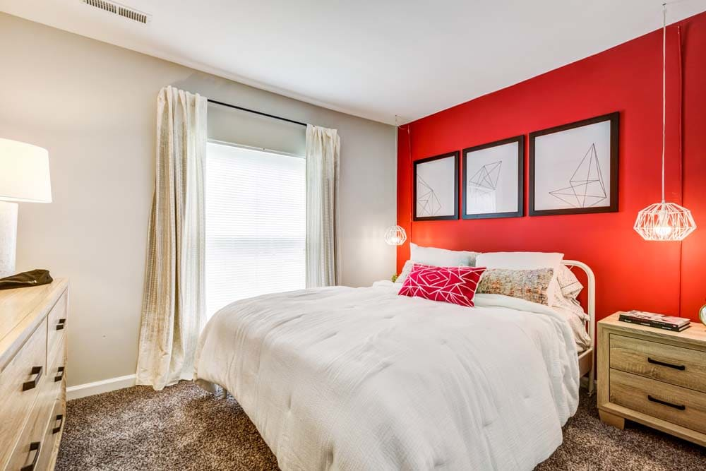 A bedroom at Howard Crossing in Ellicott City, Maryland