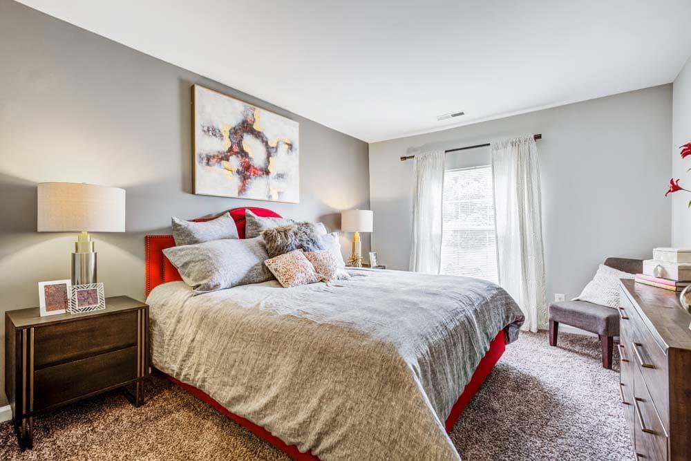 A master bedroom at Howard Crossing in Ellicott City, Maryland