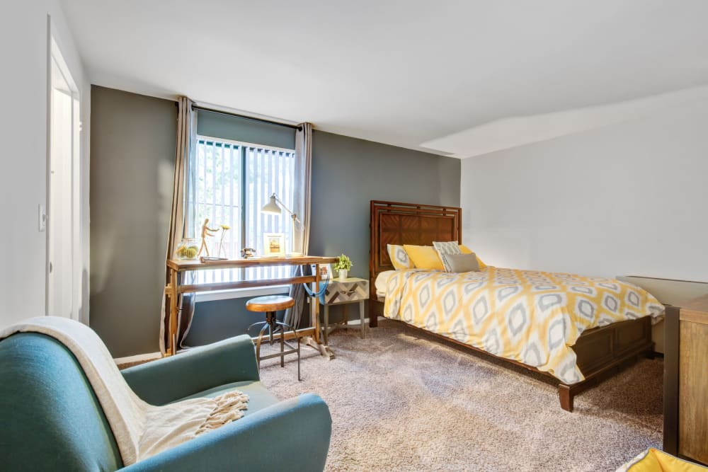 Bedroom at The Hamptons at Town Center in Germantown, Maryland