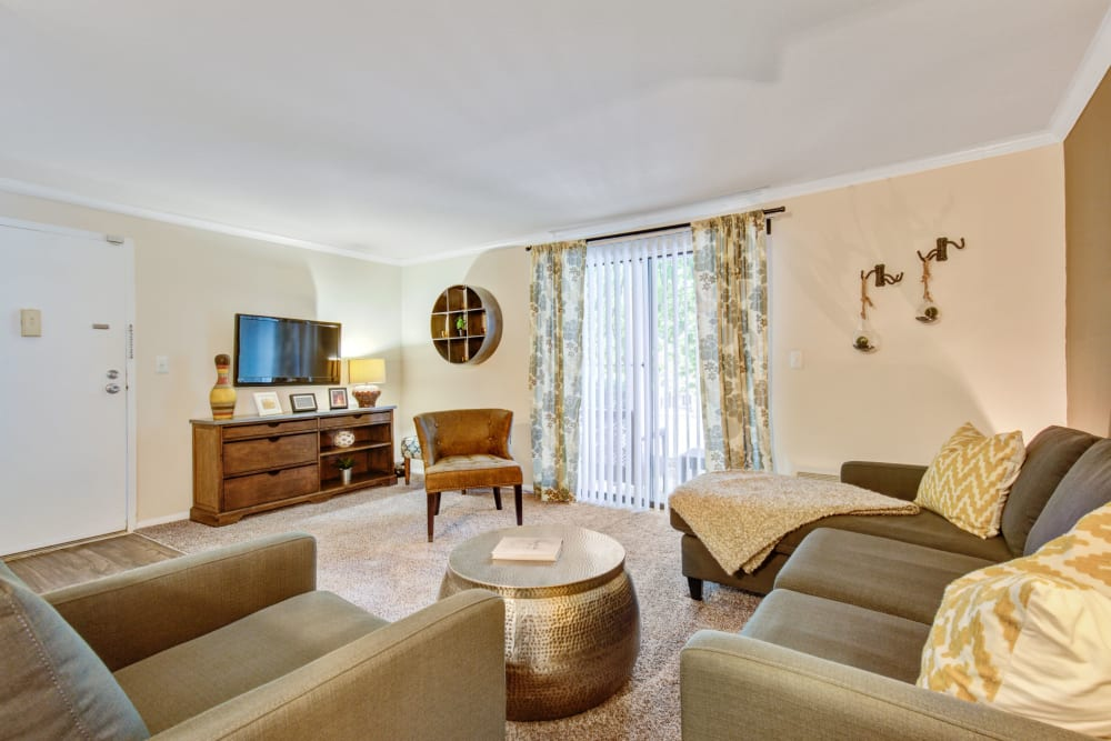 Living room at The Hamptons at Town Center in Germantown, Maryland