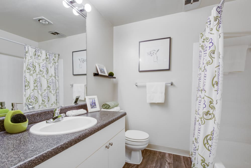 Bathroom at The Hamptons at Town Center in Germantown, Maryland