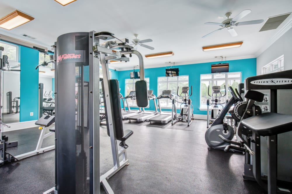 Fitness center at The Hamptons at Town Center in Germantown, Maryland