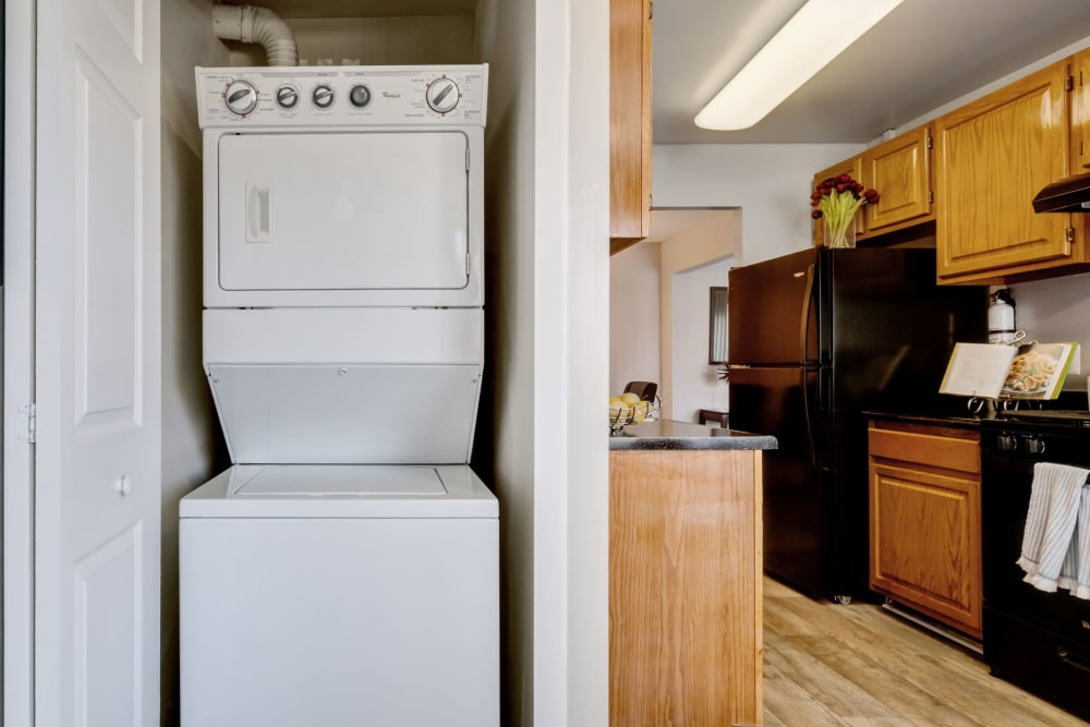 In unit washer and dryer at Cinnamon Run at Peppertree Farm in Silver Spring, Maryland