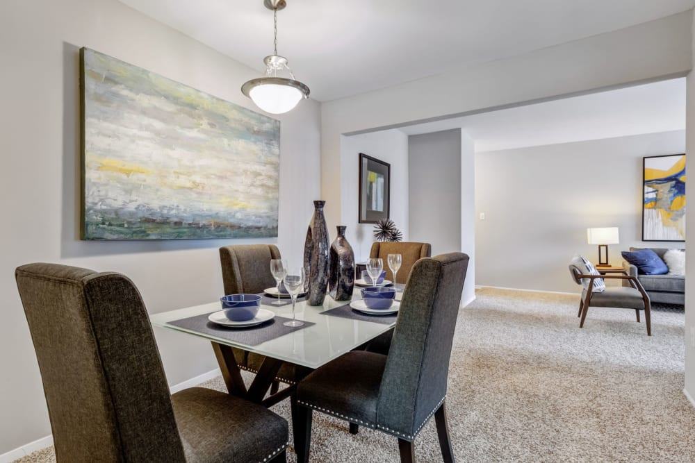 Dining nook in unit at Cinnamon Run at Peppertree Farm in Silver Spring, Maryland