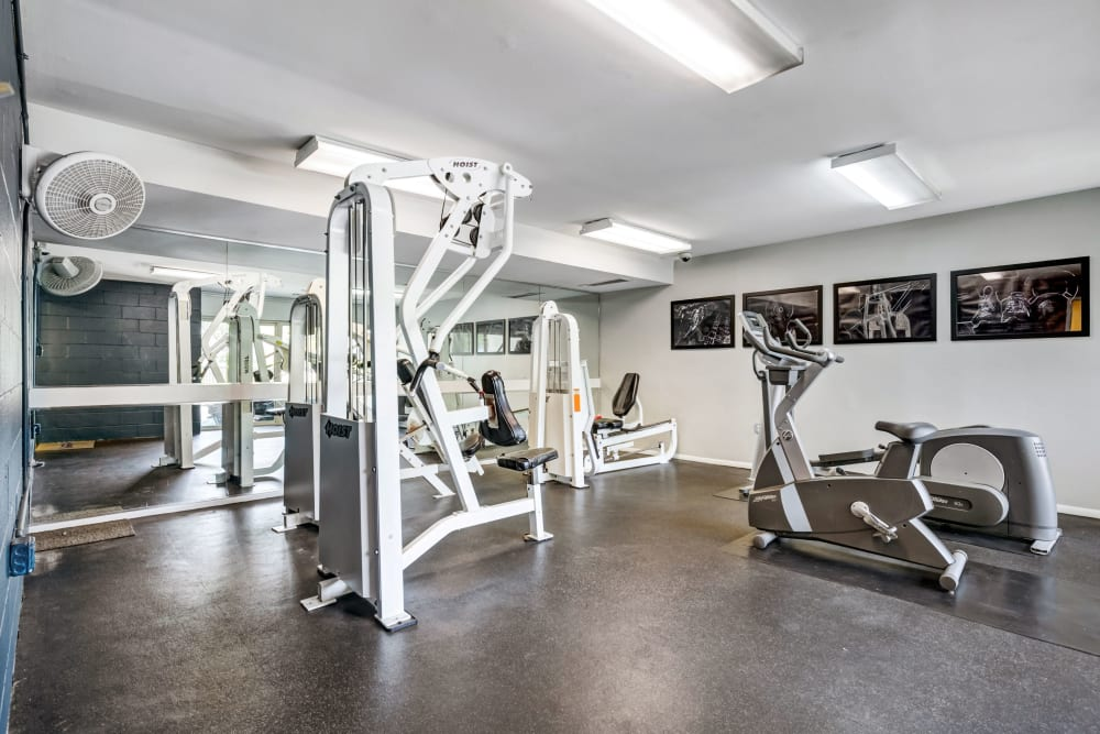 Fitness center at Cinnamon Run at Peppertree Farm in Silver Spring, Maryland