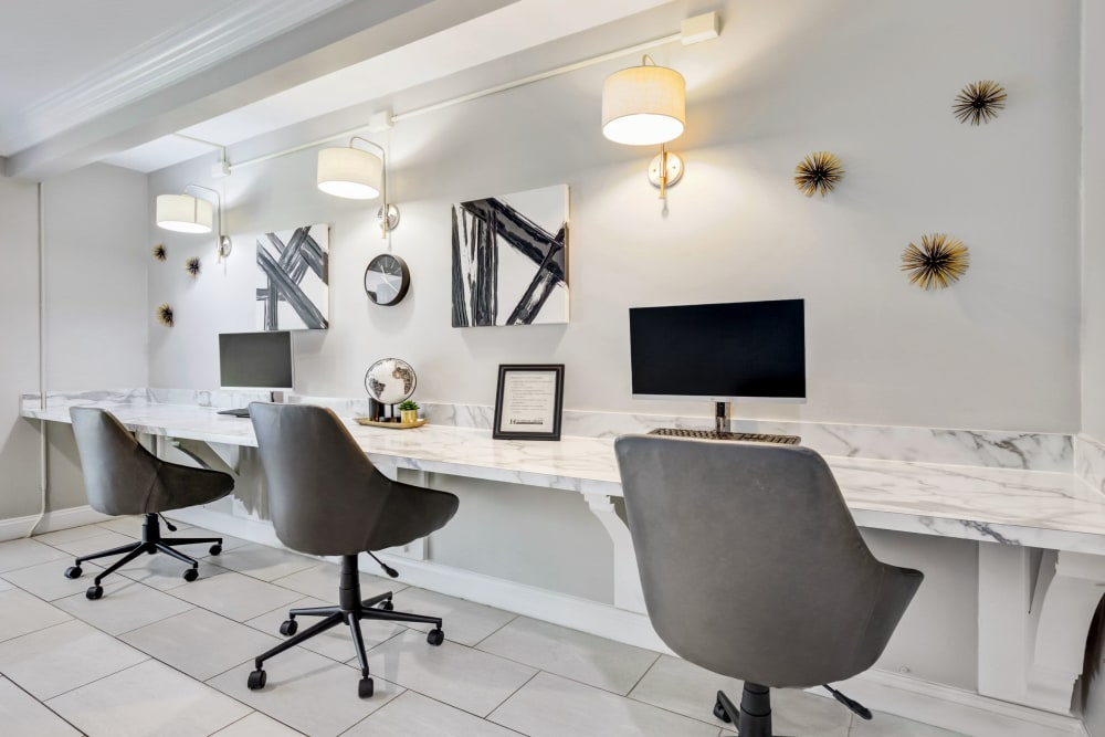 Business center at Cinnamon Run at Peppertree Farm in Silver Spring, Maryland