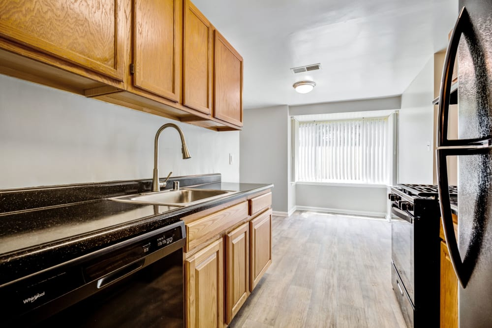 Model kitchen at Cinnamon Run at Peppertree Farm in Silver Spring, Maryland