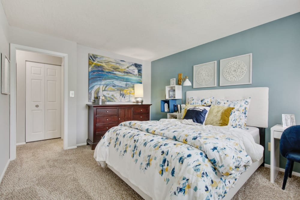 Bedroom at Country Village Apartments in Bel Air, Maryland