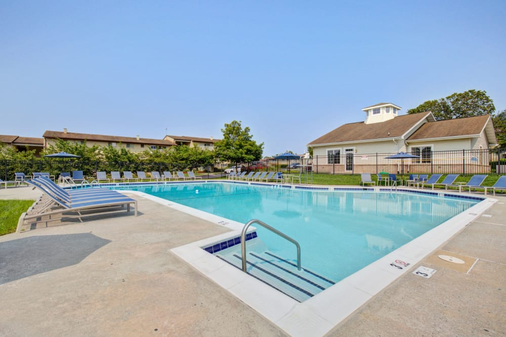 Outdoor pool at Country Village Apartments in Bel Air, Maryland