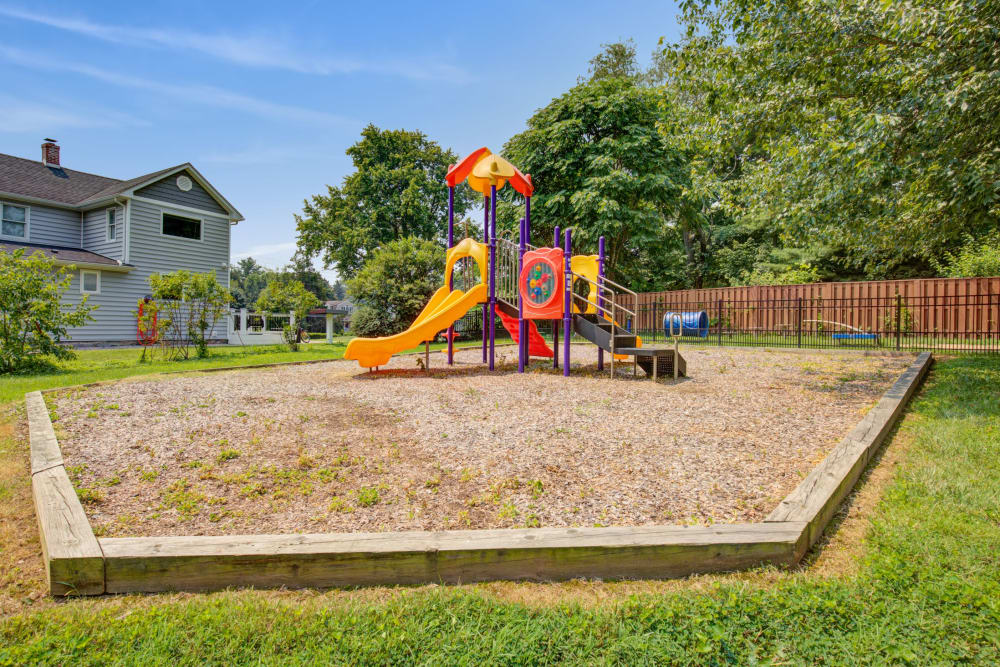 Play ground outside at Country Village Apartments in Bel Air, Maryland