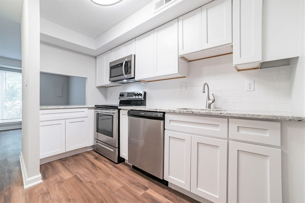 Kitchen at Beacon Pointe Apartments & Townhomes in Sparrows Point, Maryland