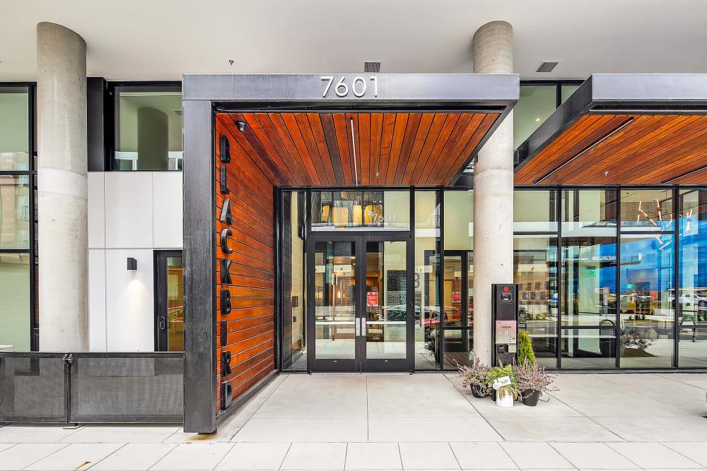 Front entry at Blackbird in Redmond, Washington