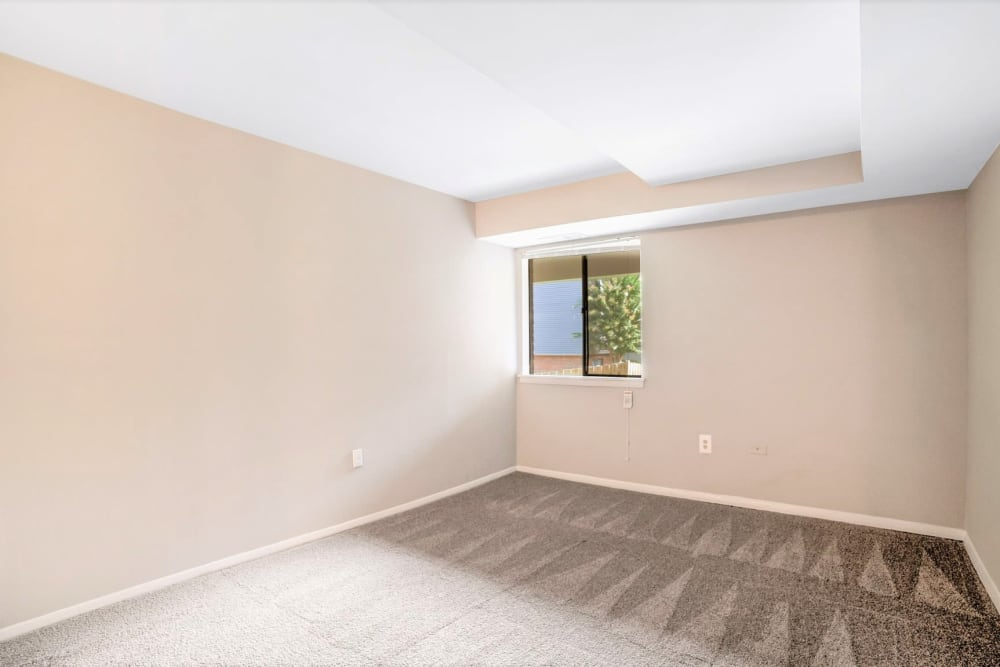 Plush carpeting in an apartment's bedroom at Eagle Rock Apartments at Towson in Towson, Maryland