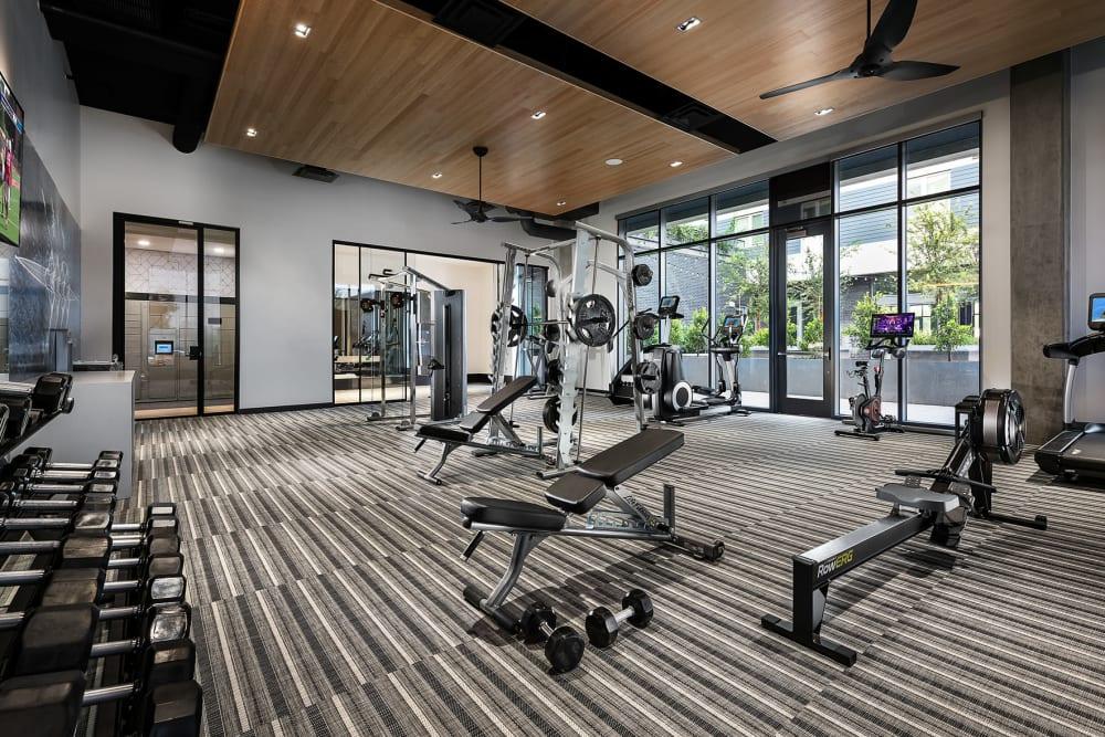 Luxury gym at Hudson on Farmer in Tempe, Arizona