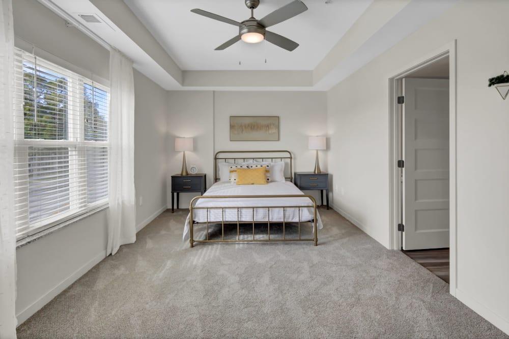 Spacious bedroom at Novo Apartments in Richfield, Minnesota