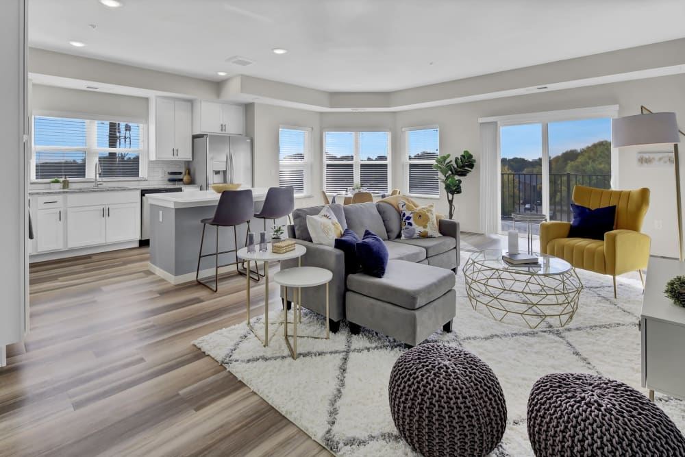 Open living space with panoramic views at Novo Apartments in Richfield, Minnesota
