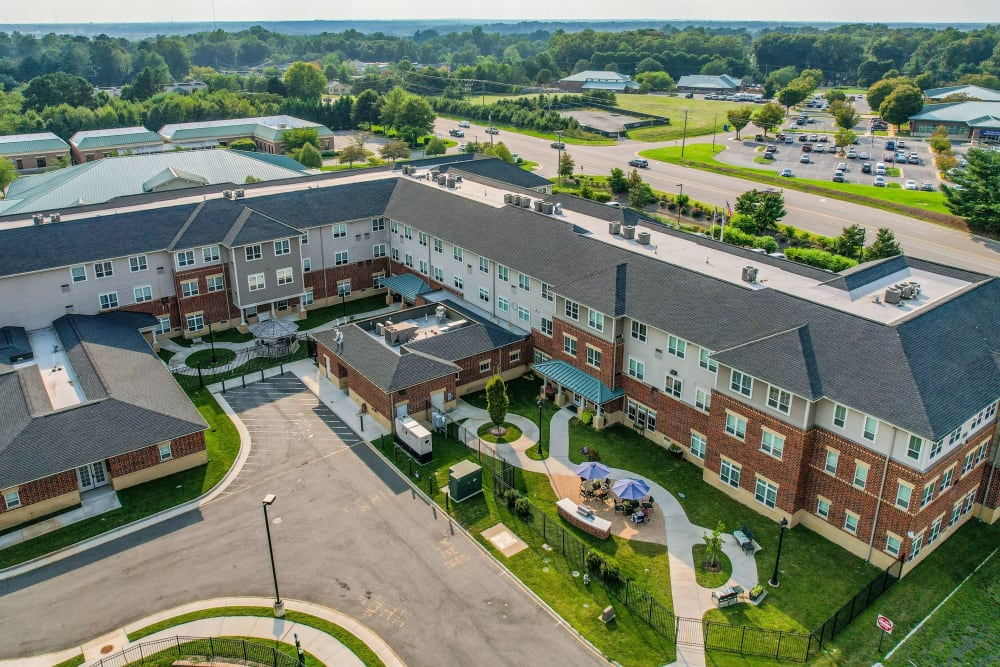 Aerial exterior The Harmony Collection at Hanover in Mechanicsville, Virginia