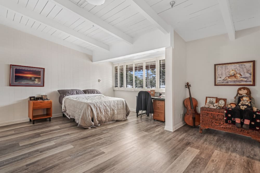 Spacious bedroom at Meridian at Ocean Villa & Bella Mar in Santa Monica, California