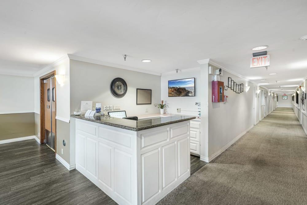 Reception desk at Meridian at Ocean Villa & Bella Mar in Santa Monica, California