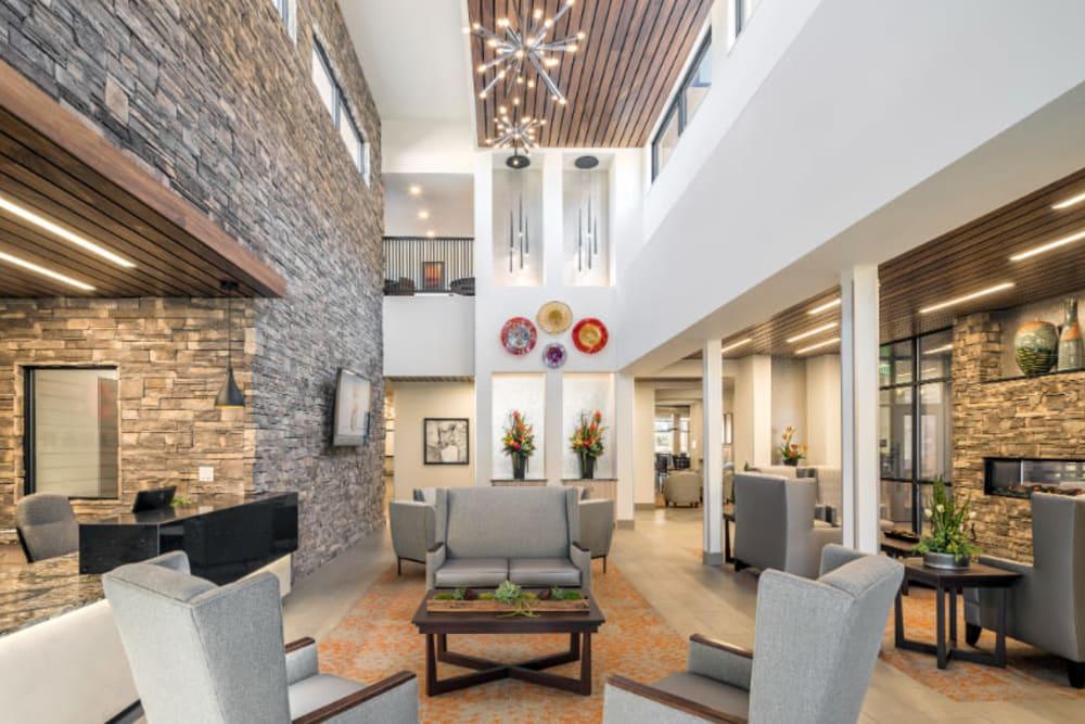 Luxe lobby at Amaran Senior Living in Albuquerque, New Mexico