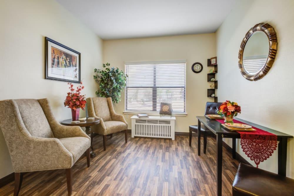 Living room at Truewood by Merrill, Scottsdale in Scottsdale, Arizona