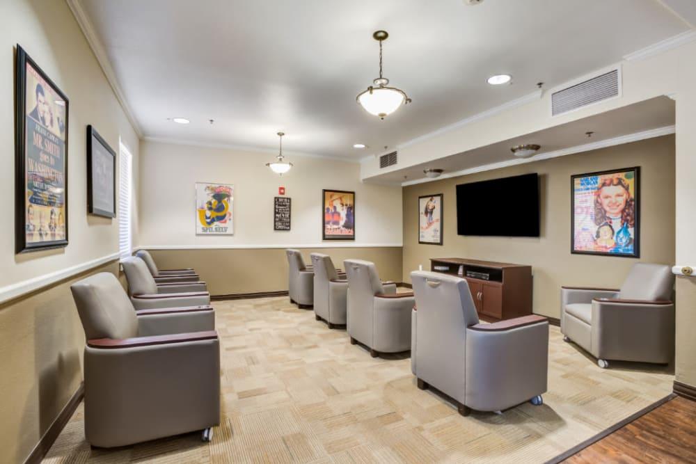 Movie room at Truewood by Merrill, Scottsdale in Scottsdale, Arizona