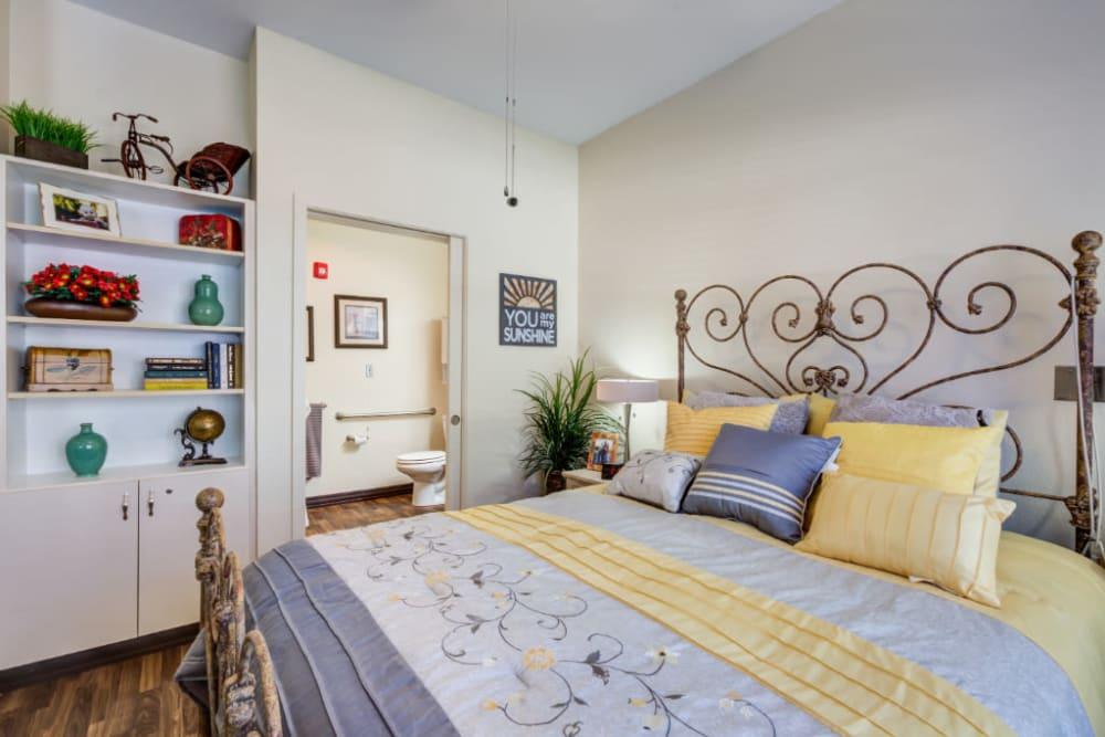 Bedroom with built in storage at Truewood by Merrill, Scottsdale in Scottsdale, Arizona